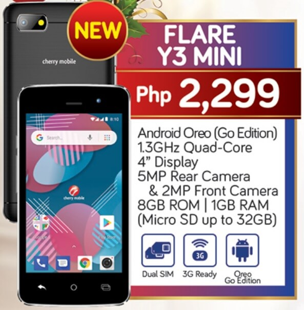 Cherry Mobile Flare Y3 Mini Specs, Price