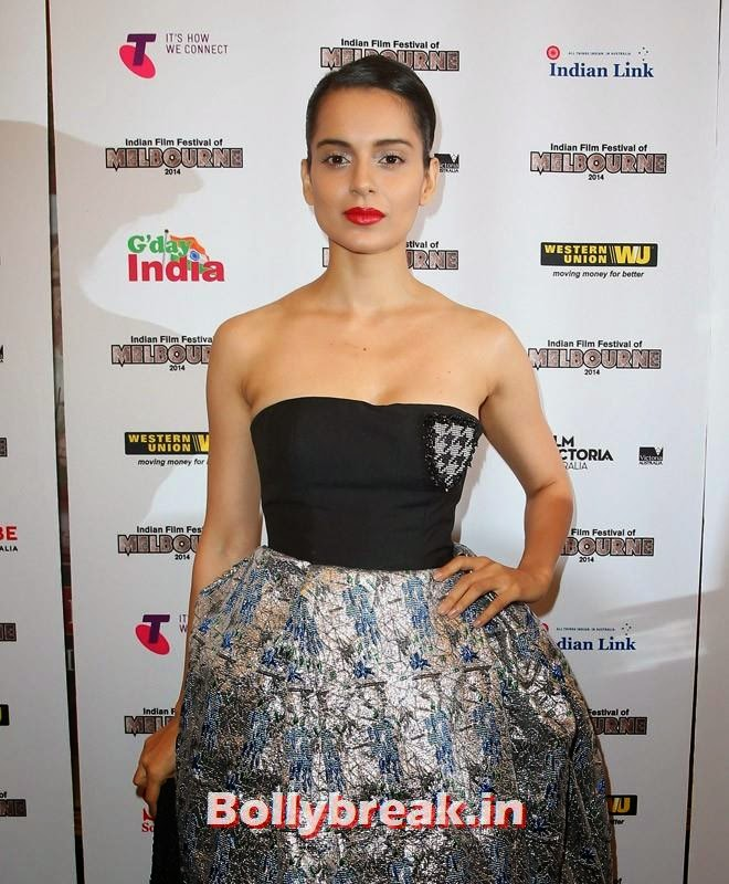 , Kangana Ranaut & Amitabh Bachchan at the Indian Film Festival of Melbourne Awards