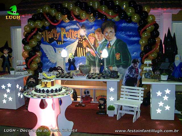 Decoração de mesa temática Harry Potter para festa de aniversário provençal luxo