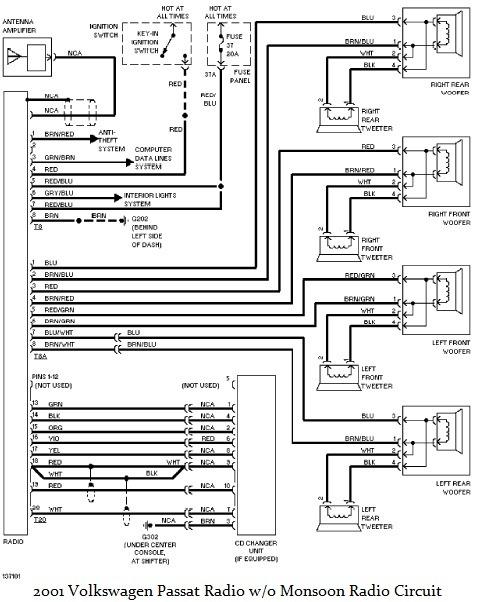 2003 Jetta Monsoon Radio Wiring Diagram  Somurich