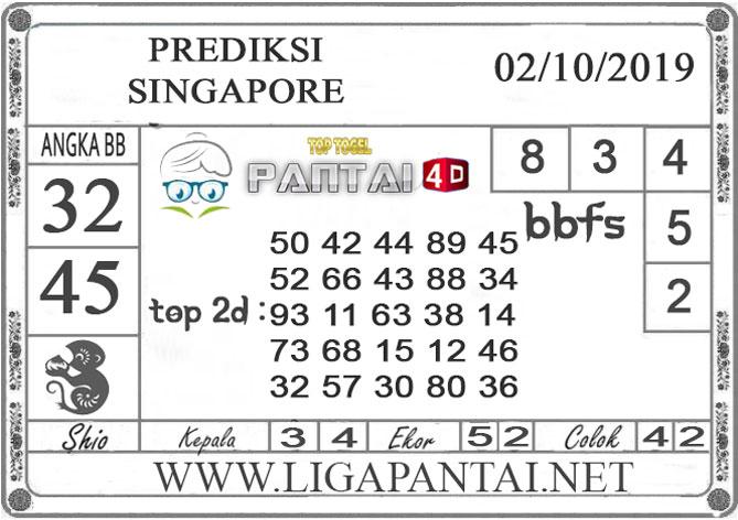 """PREDIKSI TOGEL """"SINGAPORE"""" PANTAI4D 02 OKTOBER 2019"""