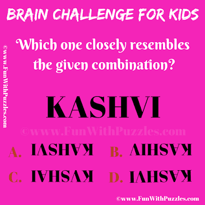 It is an easy brain challenge visual picture puzzle for kids in which one has to find the picture which closely resembles the given picture image