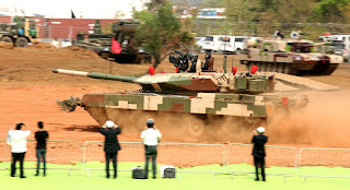 Main Battle Tank Arjun Mk II demo at the Inaugural Ceremony of the 9th Edition of Defexpo-2016 at Goa on Monday, March 28, 2016