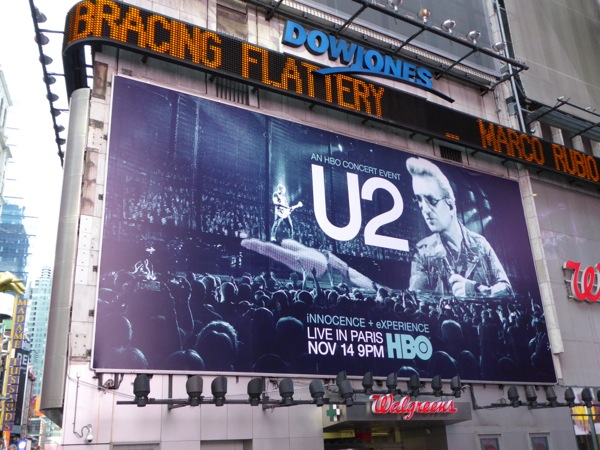 U2 Live from Paris billboard Times Square