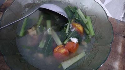 resep sayur asem sawi hijau
