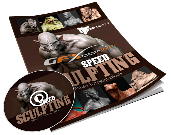 3DTotal Speed Sculpting – ZBrush eBook with DVD ~ Jumbofiles