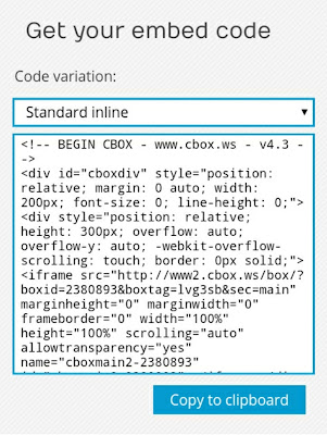 Embed Kode Cbox