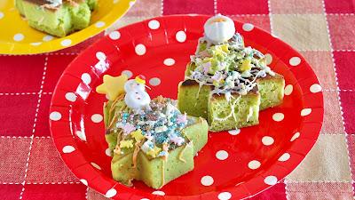 クリスマス厚焼きホットケーキ 英語レシピ