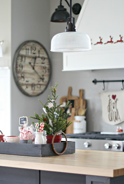 Hot cocoa area in kitchen