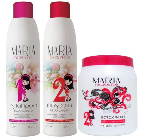 Promoção Escova Progressiva Maria Escandalosa (2 x 1 litro) + Botox