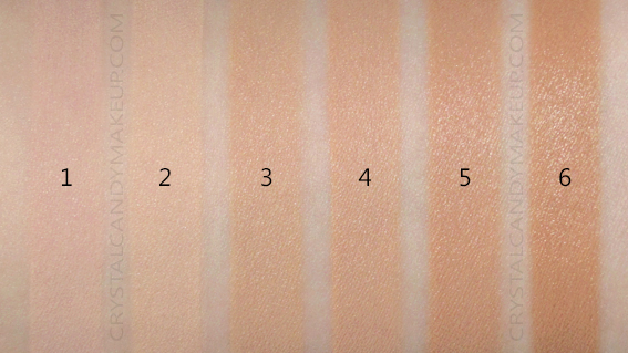 Benefit Hello Happy Soft Blur Liquid Foundation Swatches 1 2 3 4 5 6 MAC NW20 NW30 NW35 NC15 NC30