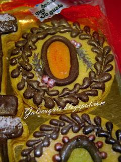 galletas decoradas con chocolate sin azúcar