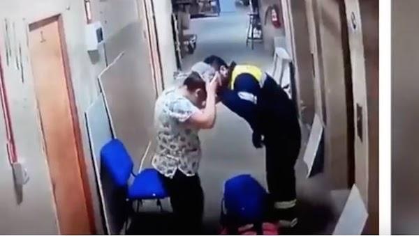 Paramédico agrede a una enfermera embarazada en un hospital (VIDEO)