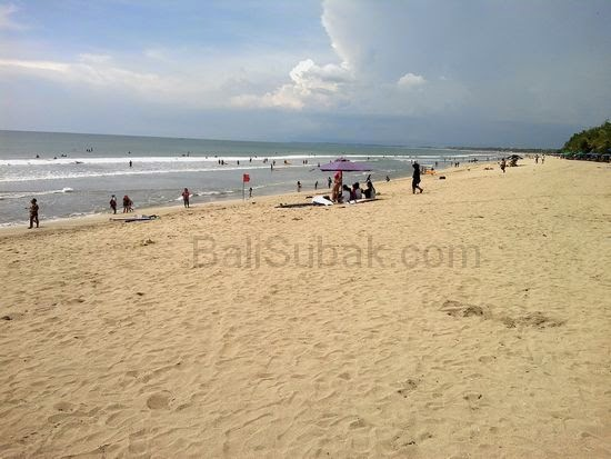Attraction of Kuta Beach Bali Indonesia