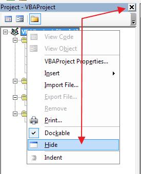 Cara Menyembunyikan Project Explorer