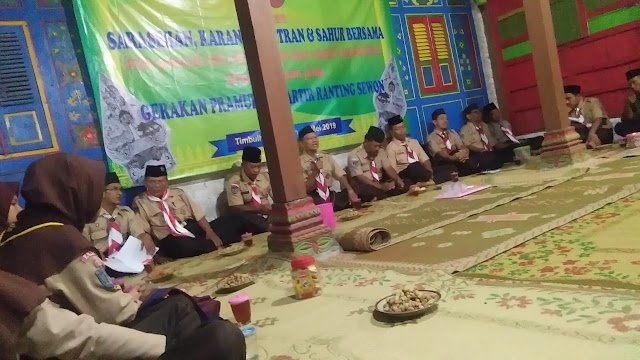 Puluhan Peserta Ikuti Sarasehan dan Sahur Bersama Kwarran Sewon