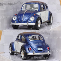 Miniatur VW Beetle / Kodok 1967 Two Colors (Blue-32K)