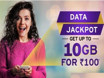 Idea data Jackpot offer 10GB data at rs 100