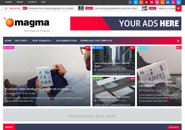 Magma News Blogger Theme