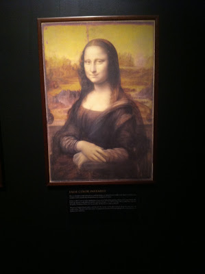 False Color Infared of the Mona Lisa