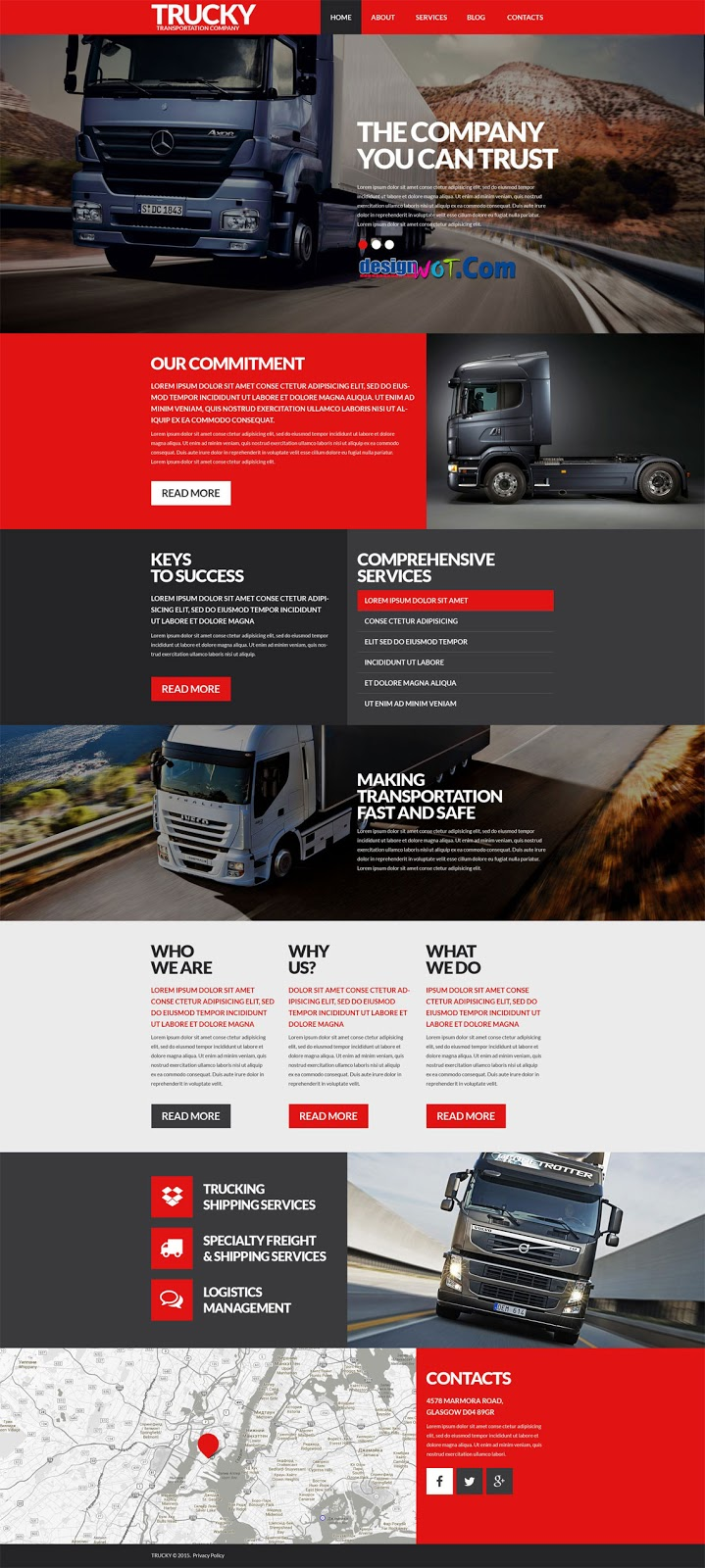 LOGISTIC Company WordPress Theme