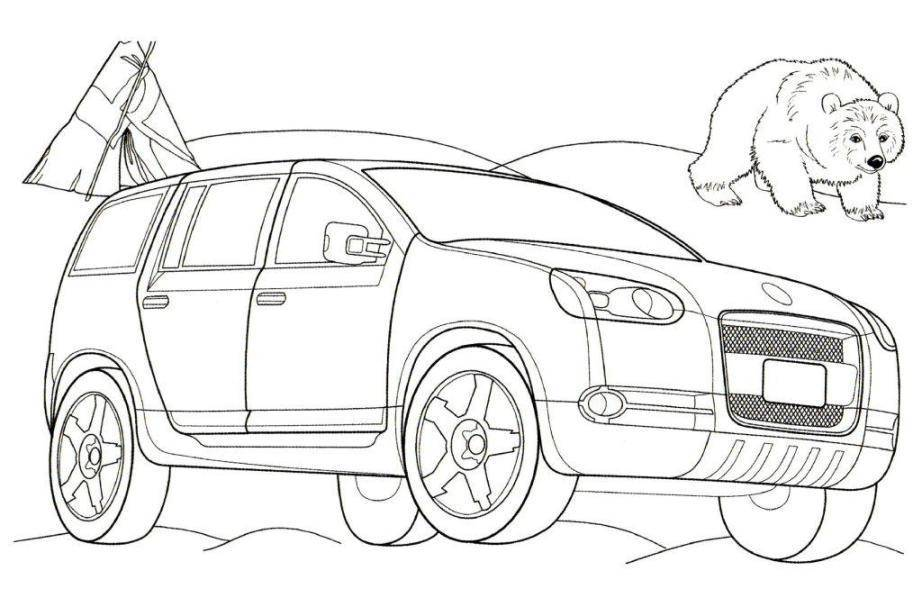 volkswagen magellan car coloring page  kids coloring pages