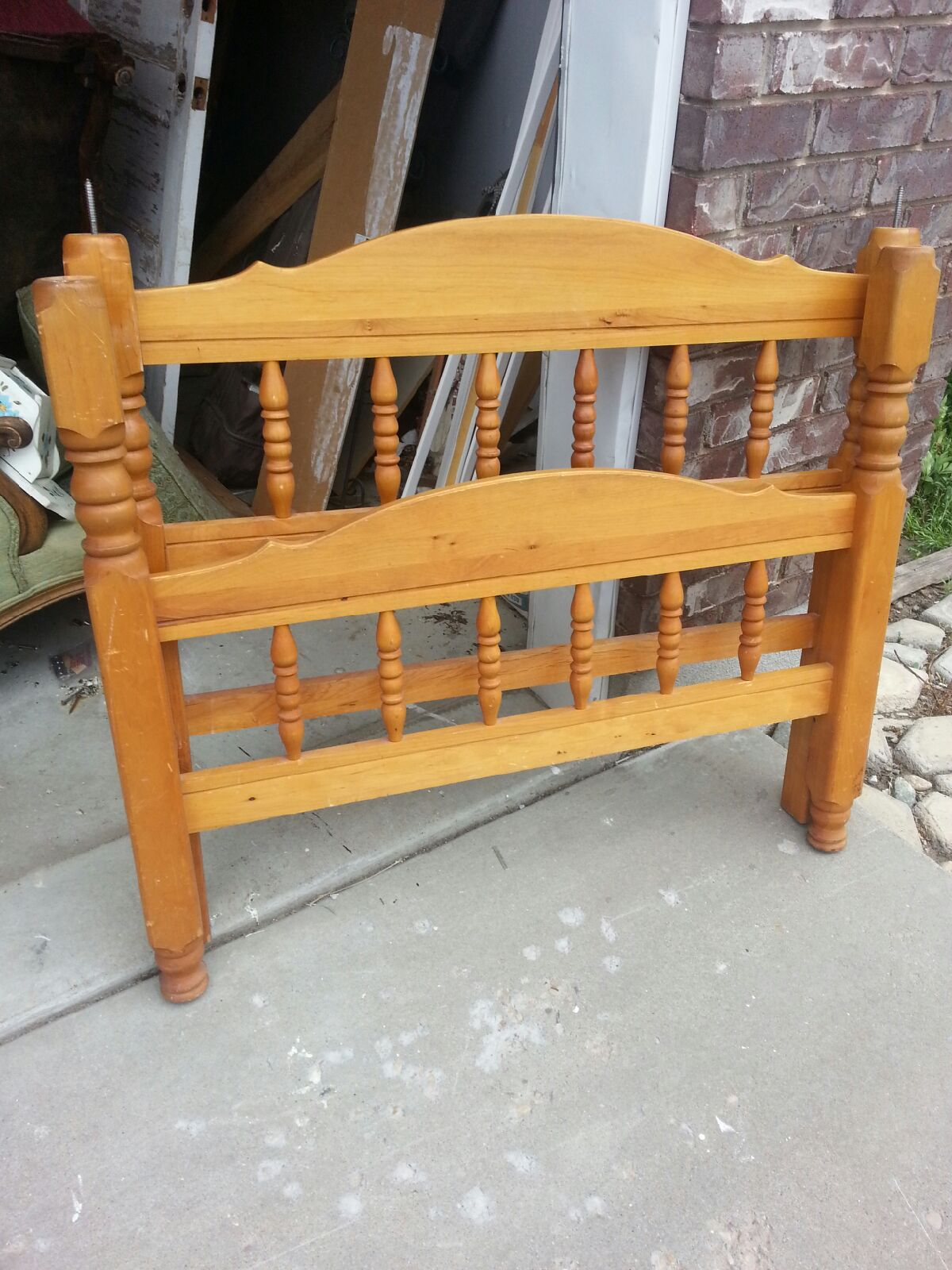 Bench By Bed: Twin Bed Frame Turned Bench!