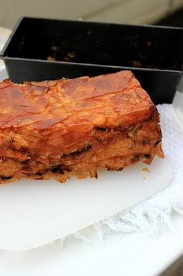 Slika pite sa šampinjonima i krompirom