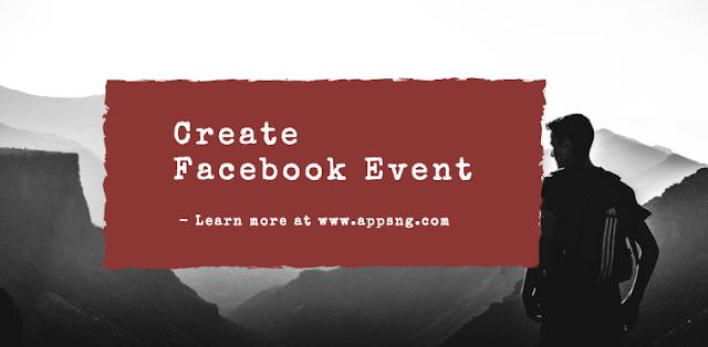 Create a public event on Facebook Via iPhone