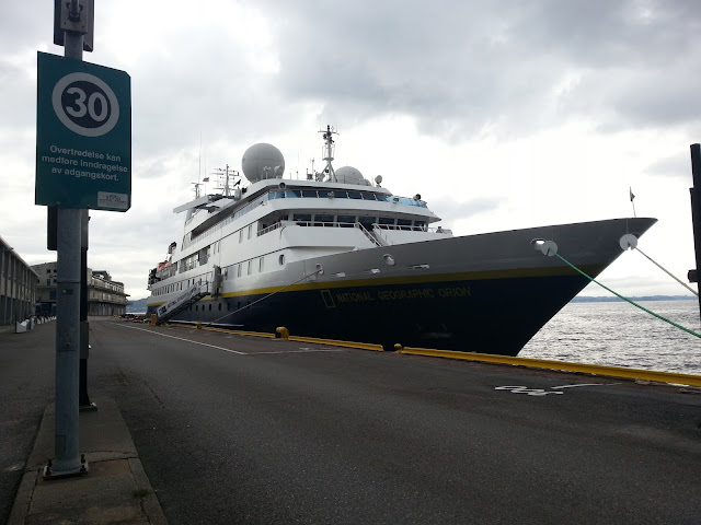 Cruise ship National Geographic Orion in Bergen, Norway