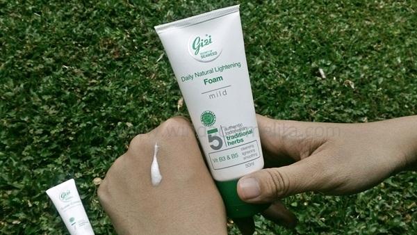 review gizi super cream daily natural lightening foam