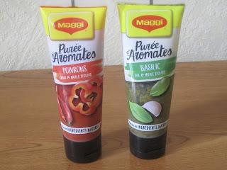 Maggi Purées d'Aromates basilic et poivrons, assaisonnements