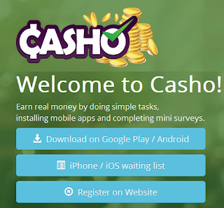 Download Casho Now and Start Earning Money