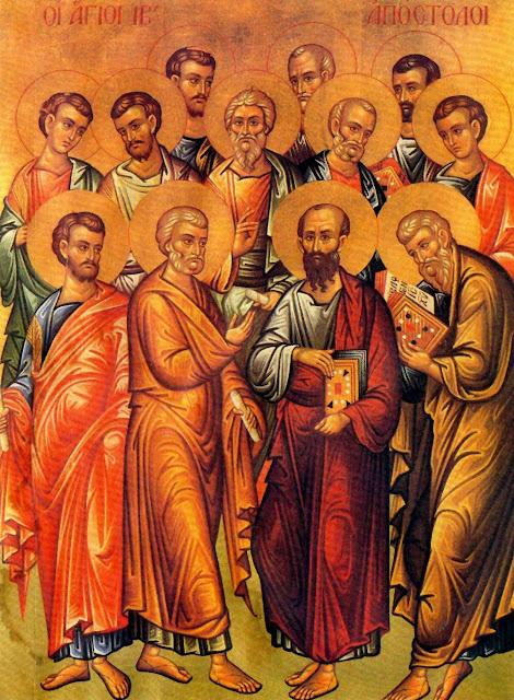 Αποτέλεσμα εικόνας για Ἡ Σύναξις τῶν 12 αποστολων