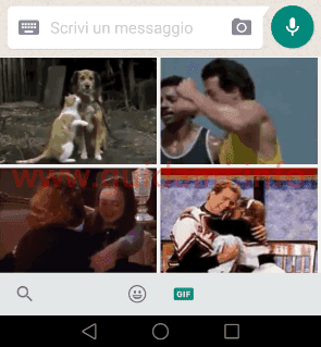 WhatsApp galleria GIF animate