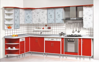 new modular red kitchen cabinets designs and color combinations 2019