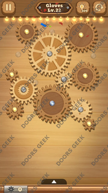 Fix it: Gear Puzzle [Gloves] Level 22 Solution, Cheats, Walkthrough for Android, iPhone, iPad and iPod