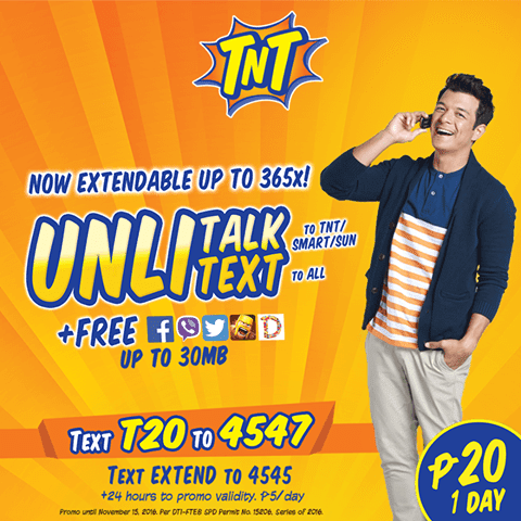Talk N Text (TNT) T20 Promo Now With Unlitext to All Networks