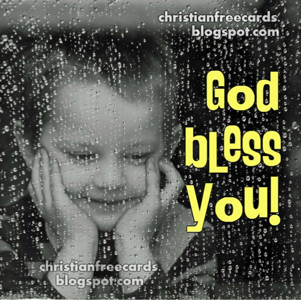 Nice card wishing  God bless your life, free christian quotes and image