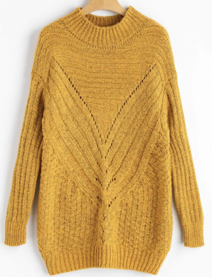 high-neck-hollow-out-chunky-sweater