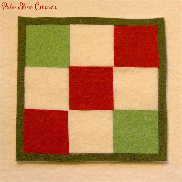 Felt Christmas Coasters, Nine Patch Block