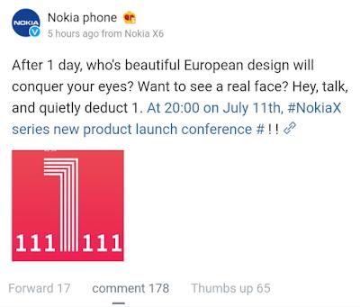 Nokia Mobile Weibo post