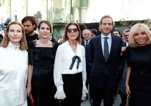 Charlotte Casiraghi, Andrea Casiraghi and Tatiana Casiraghi. organized by the houses of Chanel and Fendi