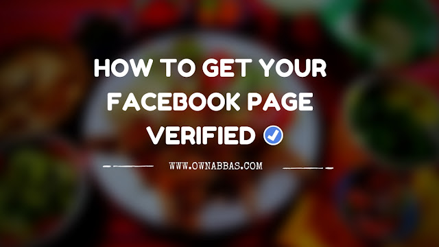 How To Verify Facebook Page 2016