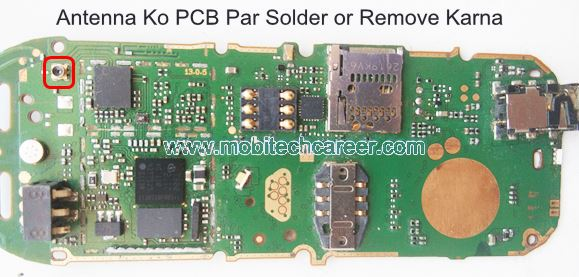 How to solder & remove antenna socket on pcb of a mobile cell phone in mobile phone repairing in hindi