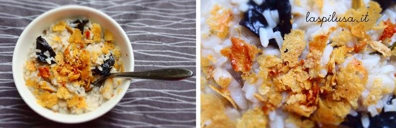 risotto ai funghi e parmigiano croccante