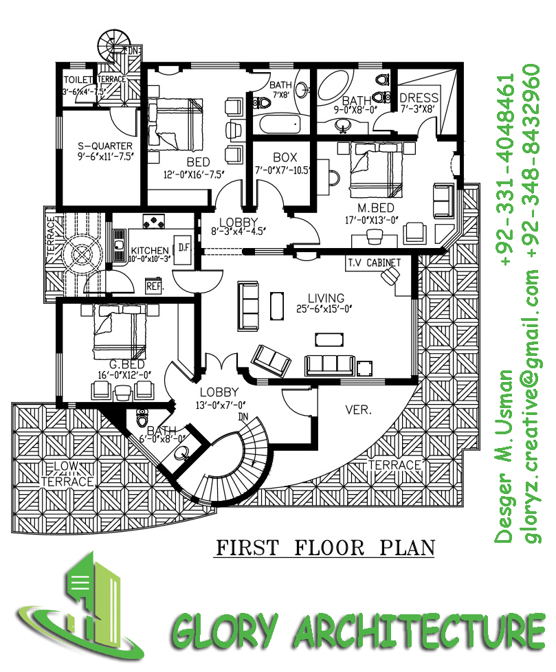 60x75 house plan 60x75 house elevation 60x75 pakistan for 3d elevation house plan