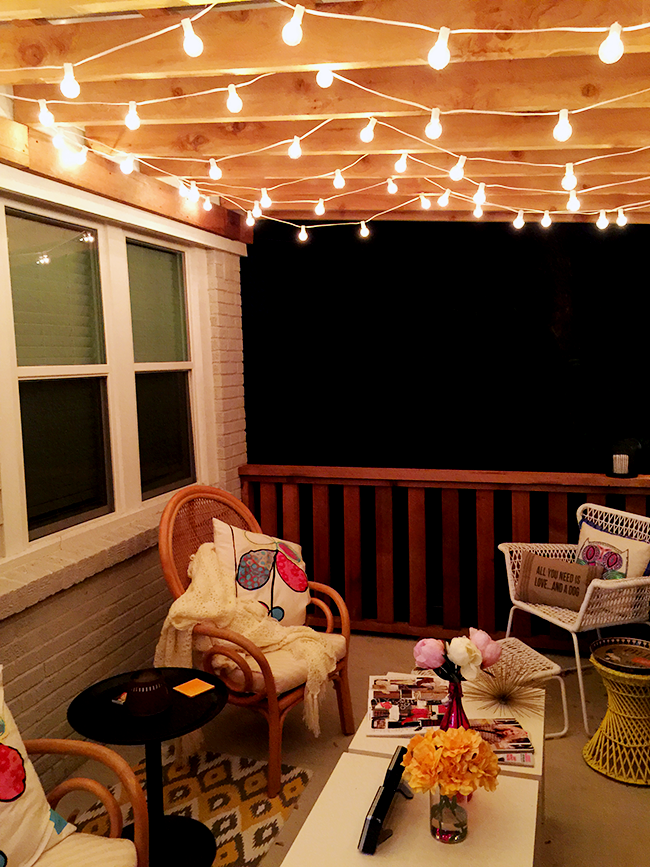 The Best Outdoor Patio String Lights + Patio Reveal ... on Backyard String Light Designs id=61388