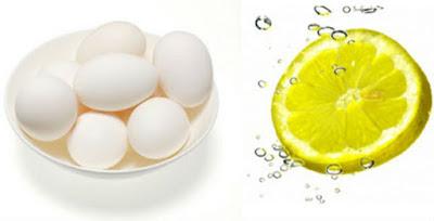 Egg White and Lemon Juice