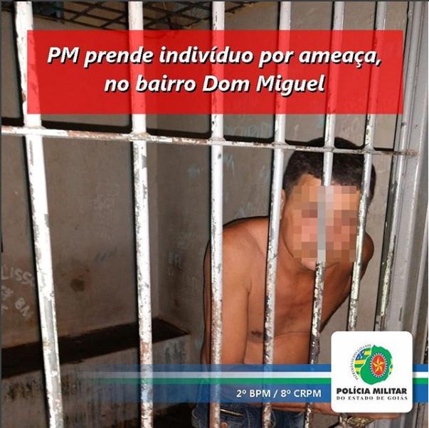 Rio Verde: Homem é preso por ameaçar a própria mãe